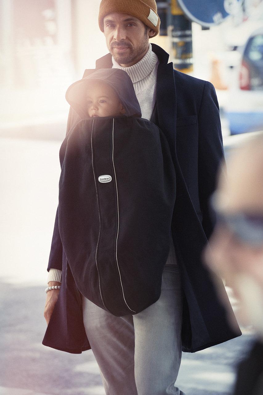 Babybjorn Чехол к рюкзаку для переноски, флис Черный