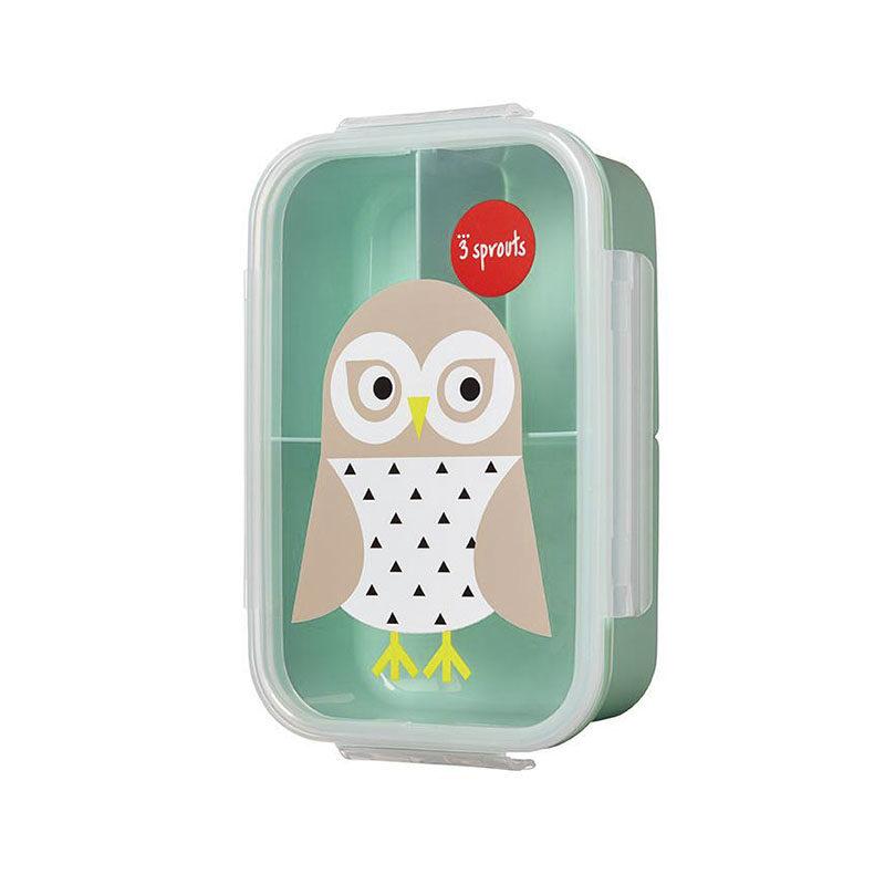 3 Sprouts Ланчбокс bento box owl, Сова
