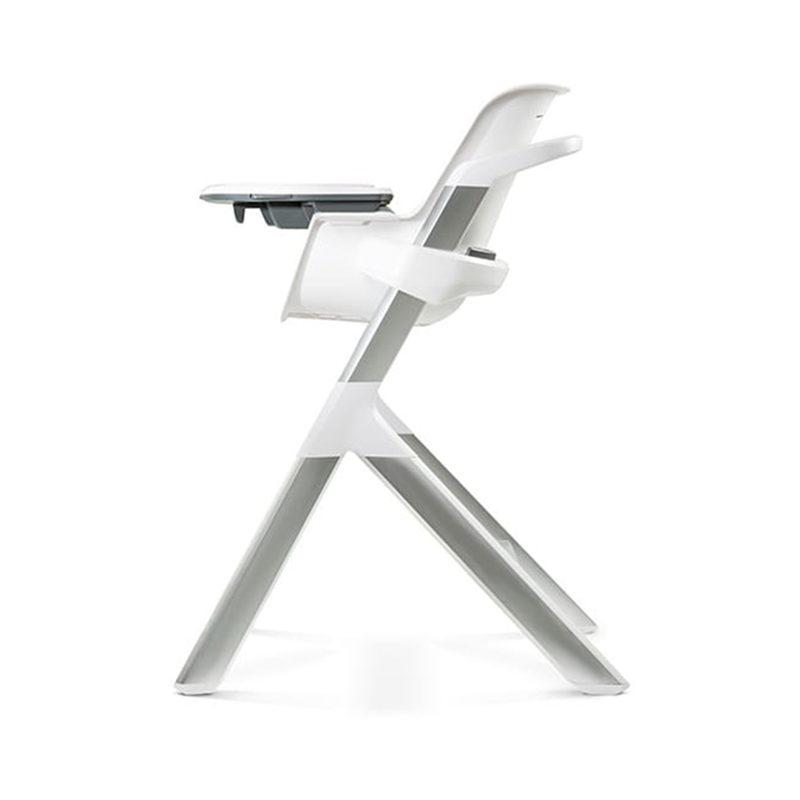 4moms High-chair Стульчик для кормления, белый/серый