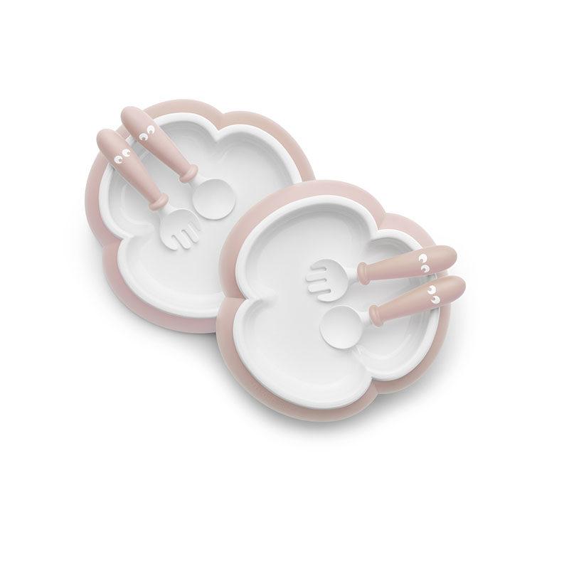 Babybjorn Комплект (2 тарелки, 2 ложки, 2 вилки ) в упаковке, нежно-розовый