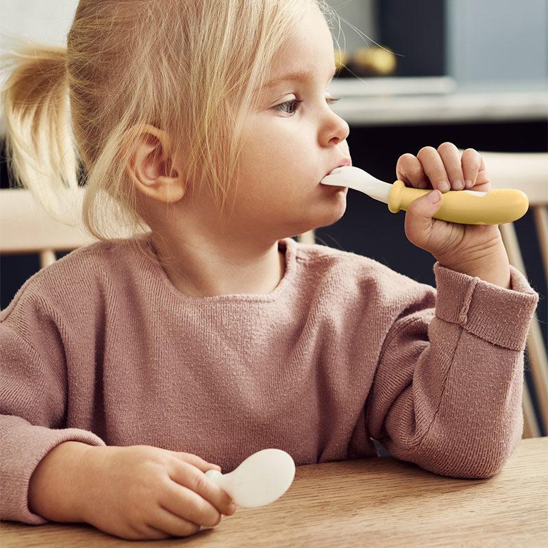 Babybjorn Комплект из 2-х ложек и 2-х вилок, нежно-желтый