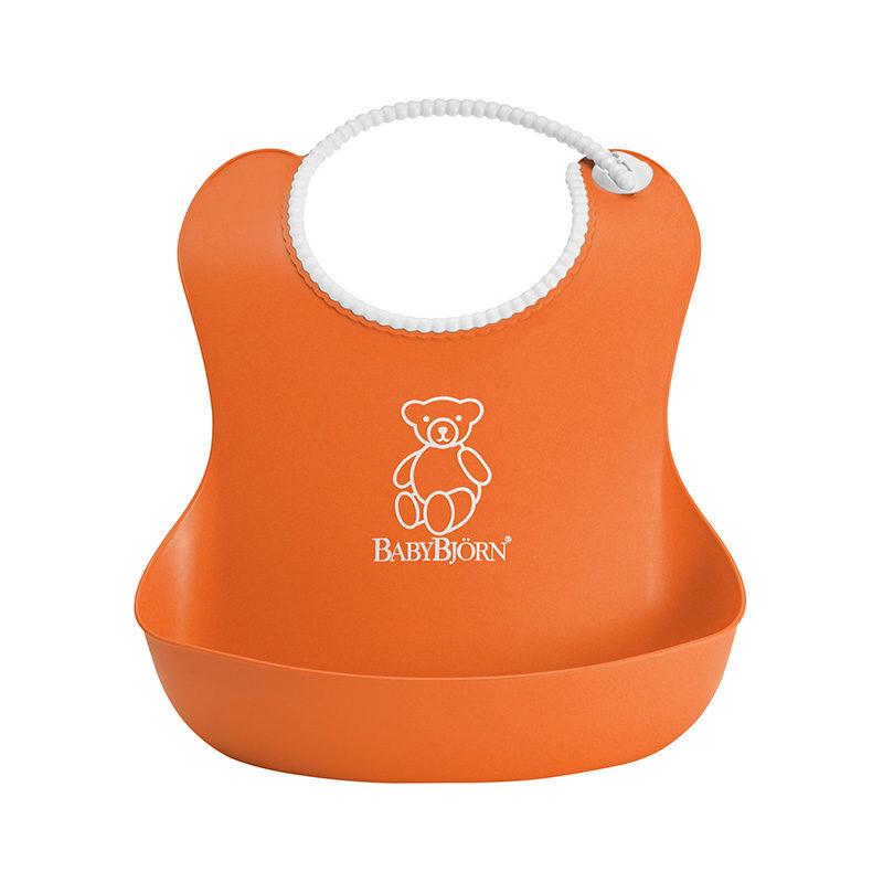 Babybjorn Нагрудник мягкий с карманом, оранжевый 0462.70