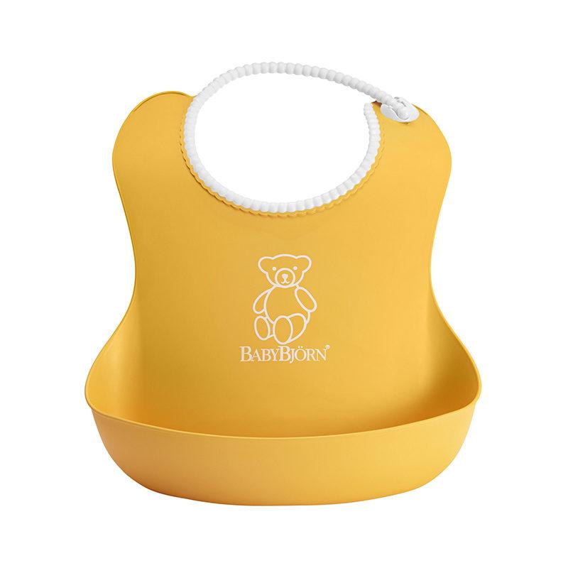 Babybjorn Нагрудник мягкий с карманом, жёлтый 0462.60