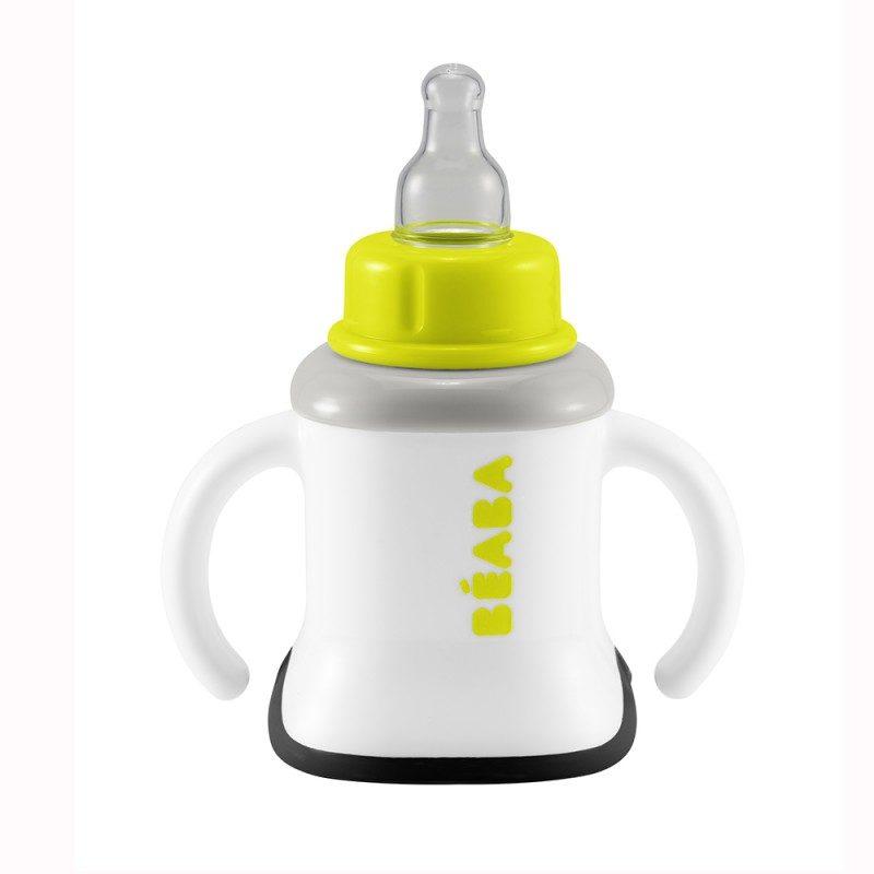 Beaba Поильник 3 в 1 Evolutive Сup Neon от бутылочки к чашке 913384
