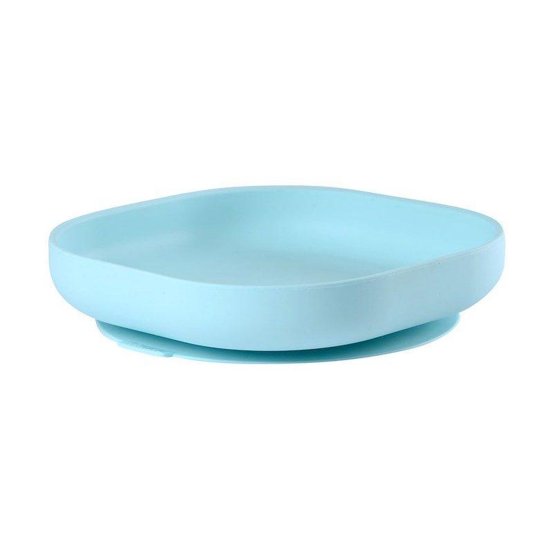 Beaba Тарелка из силикона Silicone Suction Plate Blue
