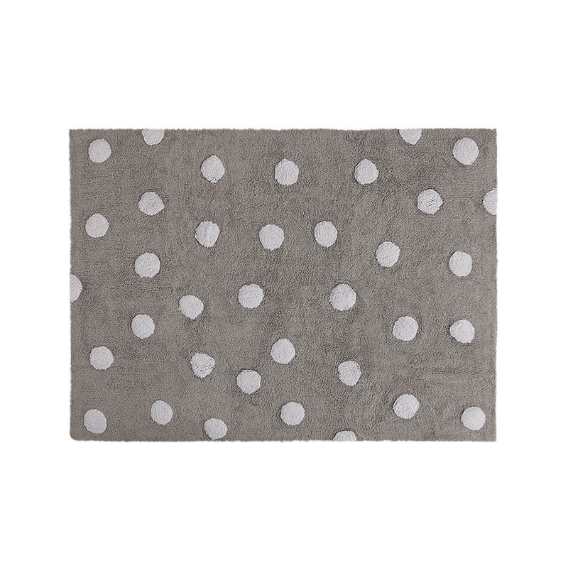 Lorena Canals Ковер Polka Dots серый-белый 120*160