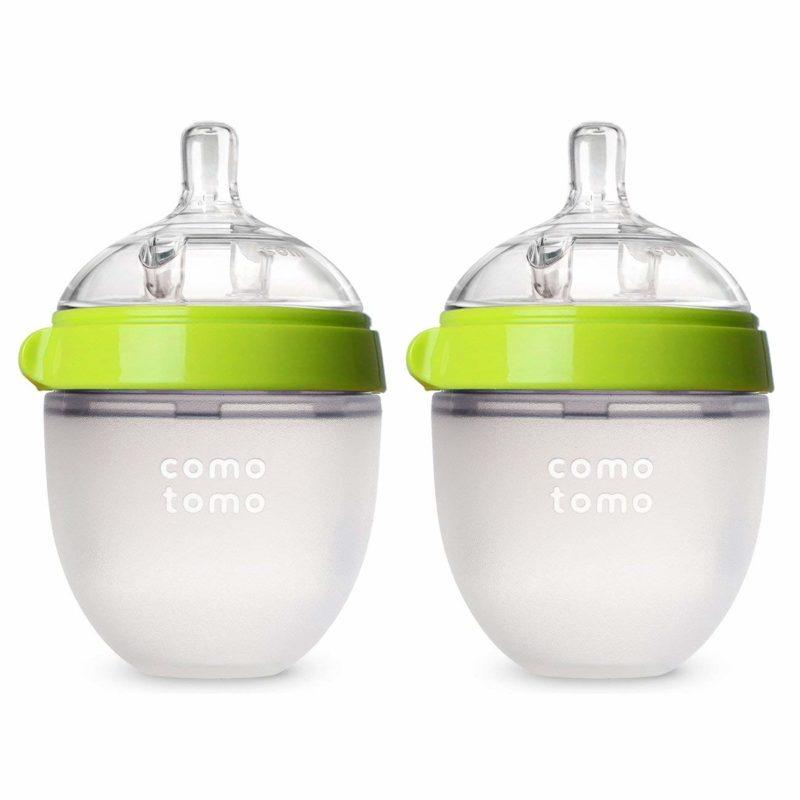 Comotomo Natural Feel Baby Bottle Набор из двух бутылочек для кормления , зеленый 150 мл