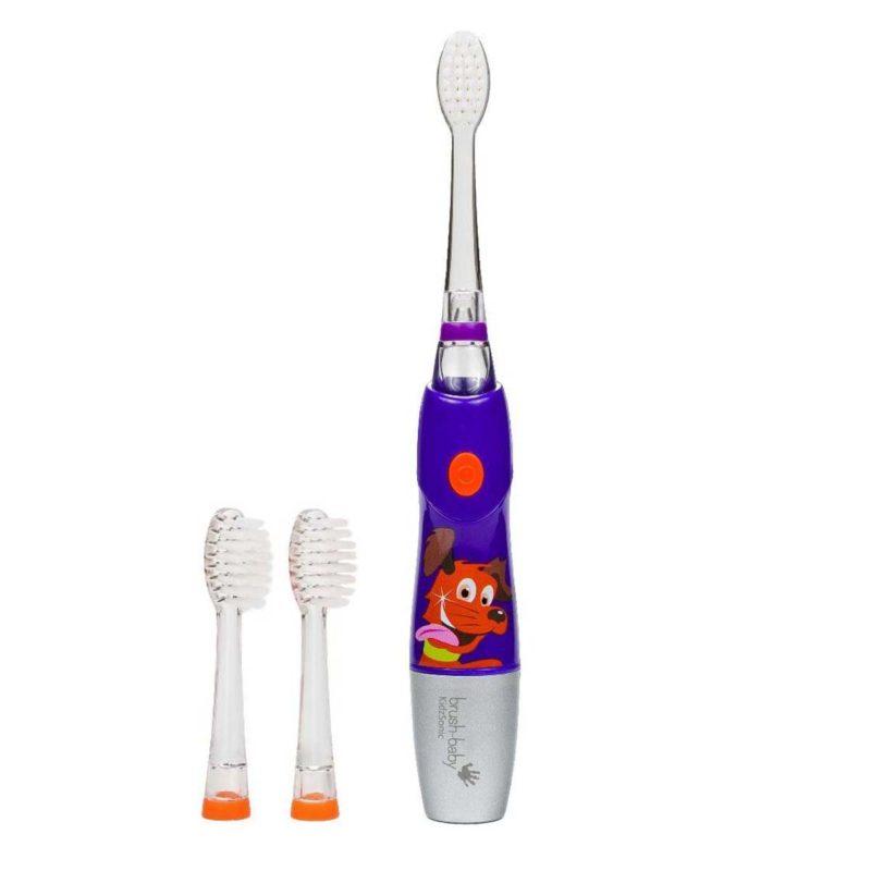Детская электрическая звуковая зубная щетка:KidzSonic Electric toothbrush, 6+. (цвет- сиреневый) арт.BRB083