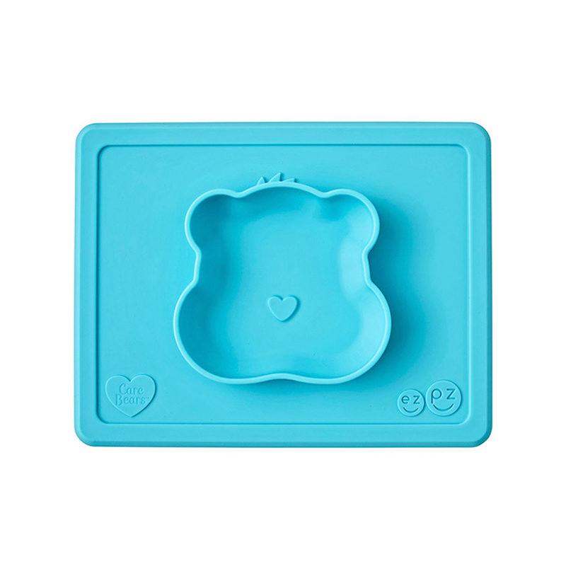 Ezpz Happy Bowl Care Bear Edition Teal, бирюзовый