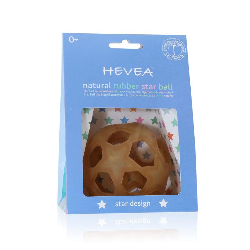 Hevea Прорезыватель для зубов из натурального каучука (латекса), Star Ball