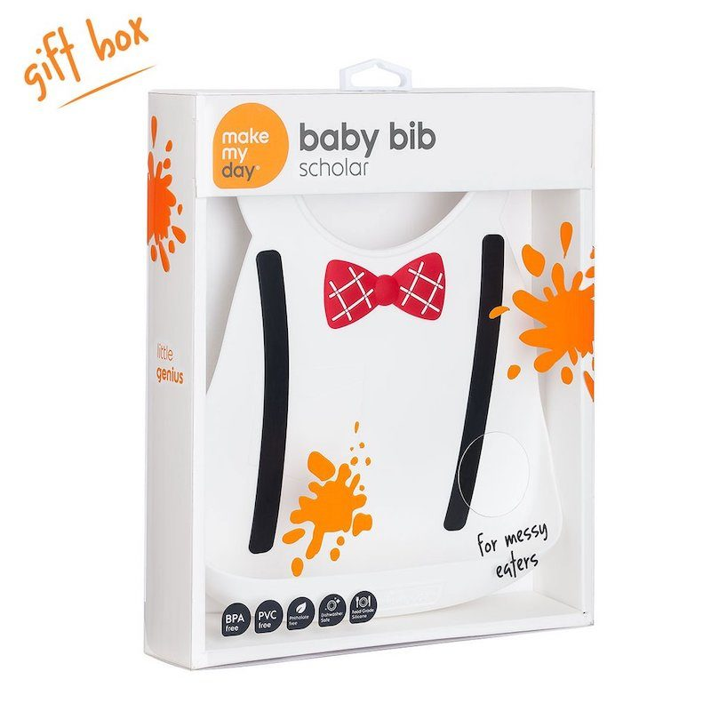 Make My Day Нагрудник Baby Bib - Scholar White-2