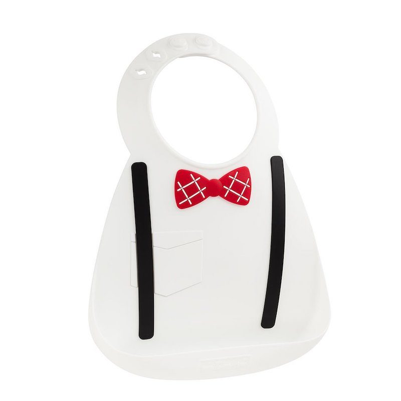 Make My Day Нагрудник Baby Bib - Scholar White-3