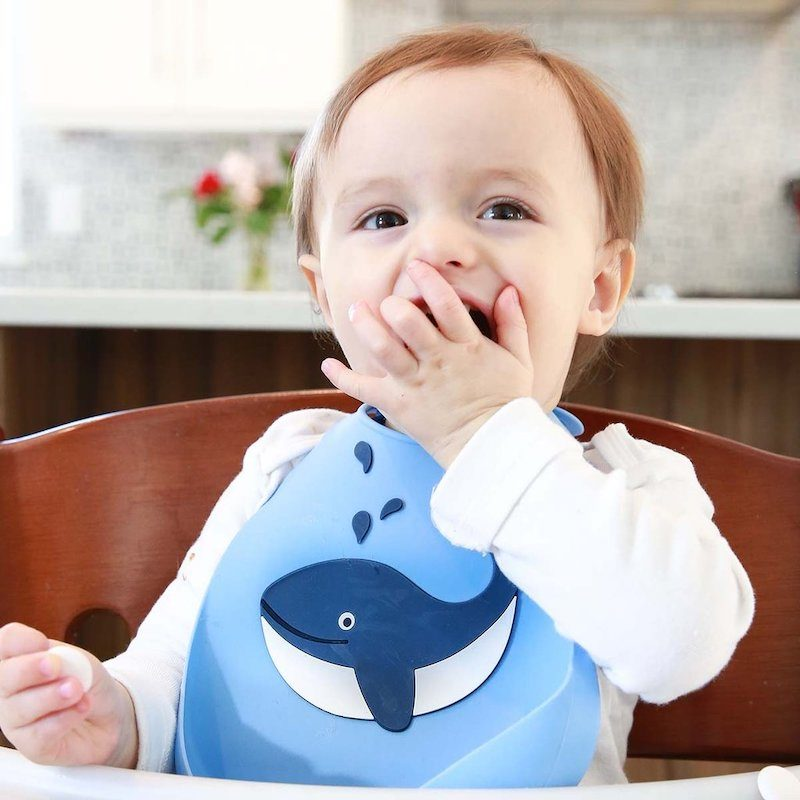 Make My Day Нагрудник Baby Bib - Whale-1