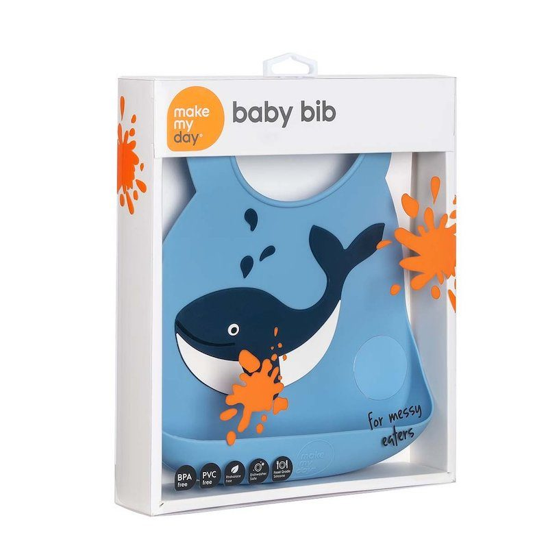 Make My Day Нагрудник Baby Bib - Whale