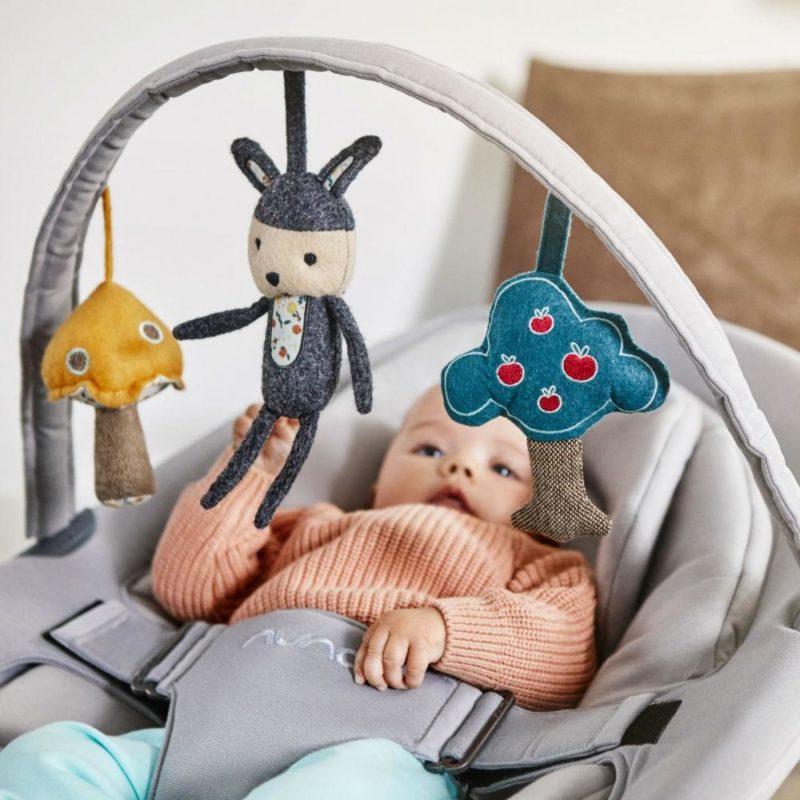 Nuna Reversible Toy Bar Дуга с игрушками для шезлонга Leaf