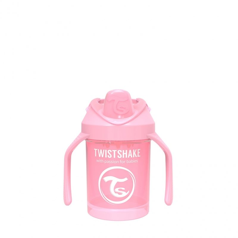 Поильник Twistshake Mini Cup 230 мл. Жемчужный розовый