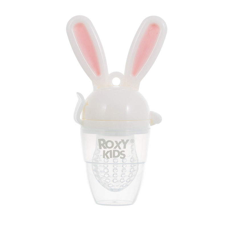 ROXY-KIDS Bunny Twist Ниблер для прикорма малышей, Розовый