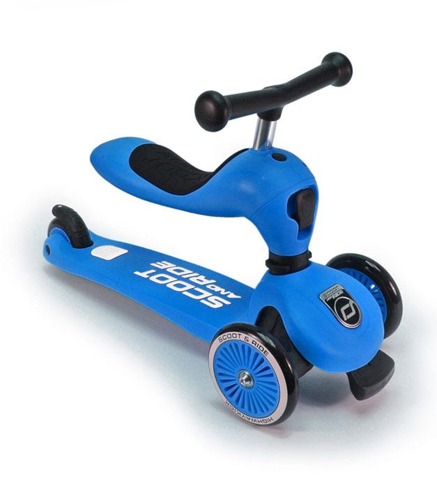 Scoot&Ride Детский трехколесный самокат с сиденьем, HighwayKick
