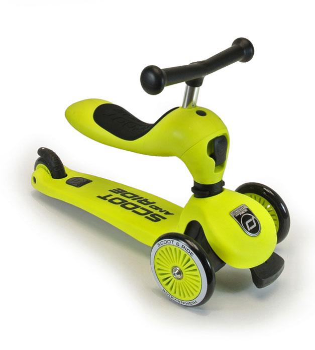 Scoot&Ride Детский трехколесный самокат с сиденьем, Лайм