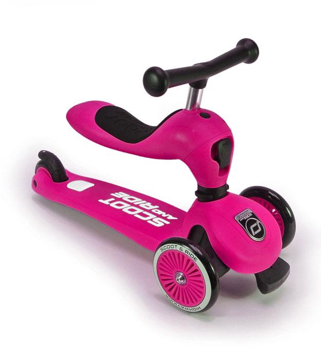Scoot&Ride Детский трехколесный самокат с сиденьем, Розовый