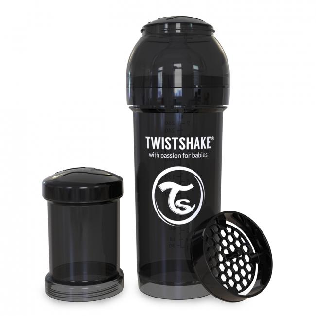 Twistshake Антиколиковая бутылочка 260 мл, Black