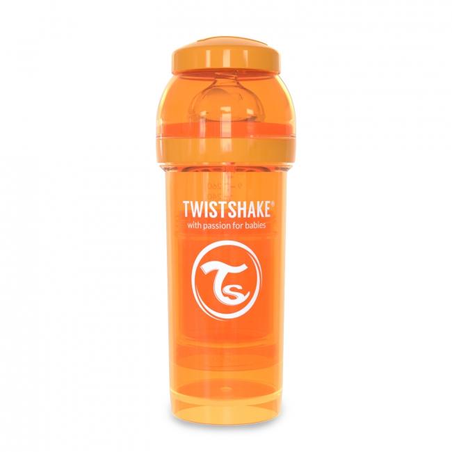 Twistshake Антиколиковая бутылочка 260 мл, Orange Sunbeam