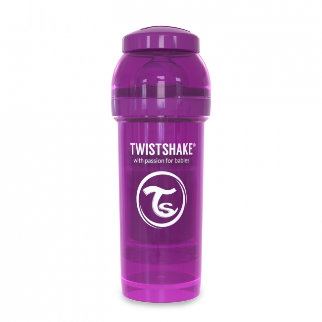 Twistshake Антиколиковая бутылочка 260 мл, Purple Bestie