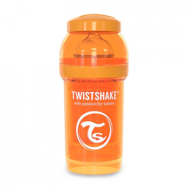 Twistshake Антиколиковая бутылочка для кормления 180 мл, Оранжевая
