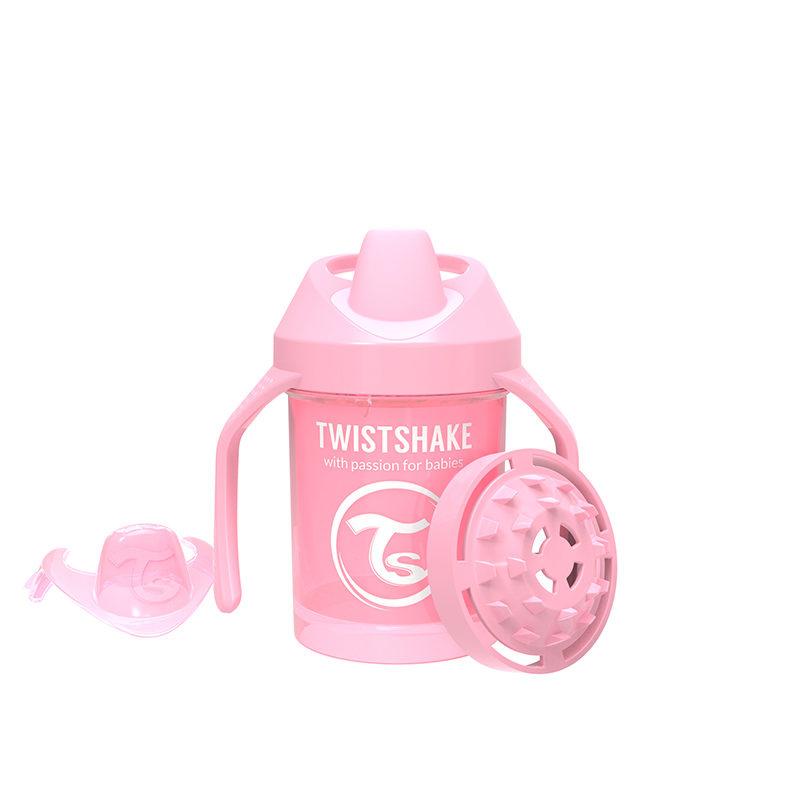 Twistshake Поильник Twistshake Mini Cup, 230 мл, Пастельный розовый Pastel Pink