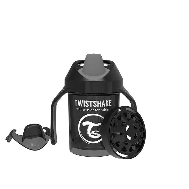 Twistshake Поильник Twistshake Mini Cup, 230 мл, Чёрный Superhero