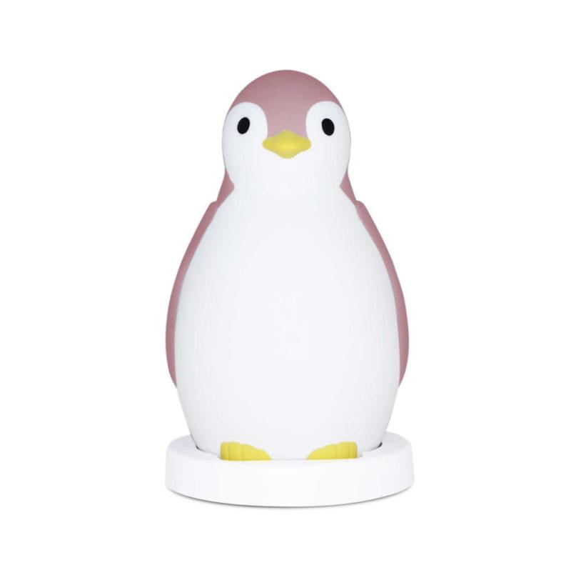 Zazu Беспроводная колонка+будильник+ночник пингвинёнок Пэм, Розовый