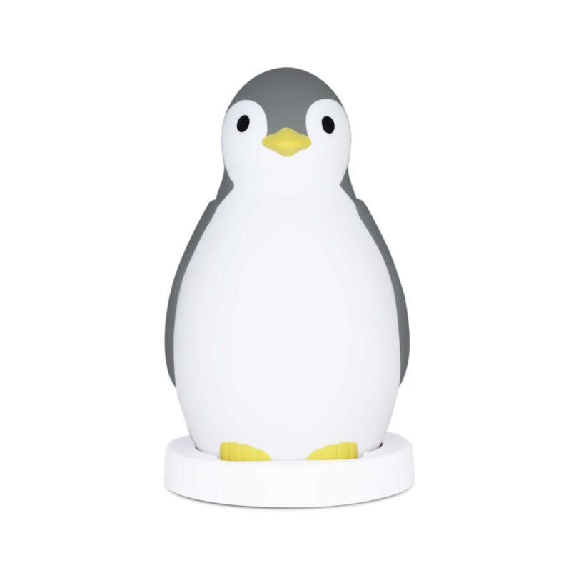 Zazu Беспроводная колонка+будильник+ночник пингвинёнок Пэм, Серый