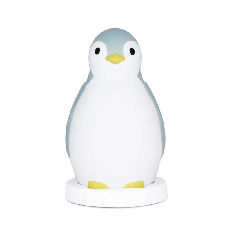 Zazu Беспроводная колонка+будильник+ночник пингвинёнок Пэм, Синий