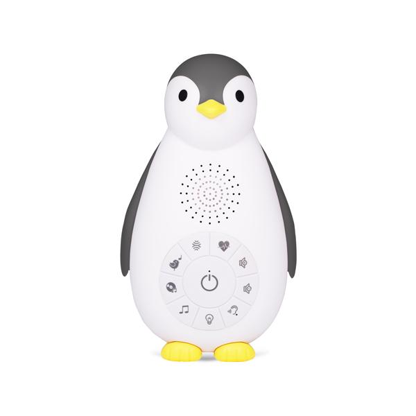 Zazu Беспроводная колонка+проигрыватель+ночник пингвинёнок Зои, Серый