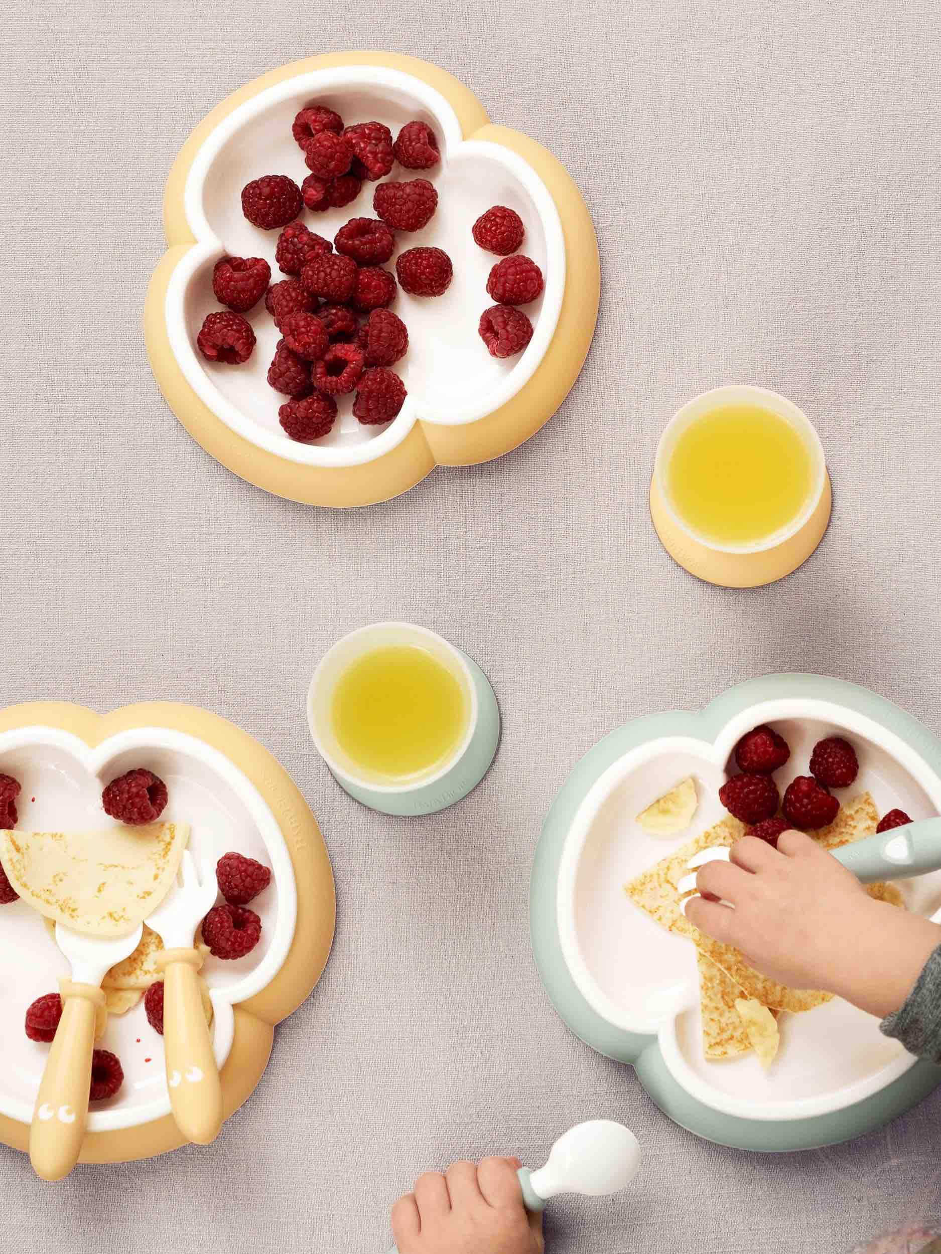babybjorn-набор посуды-желтый