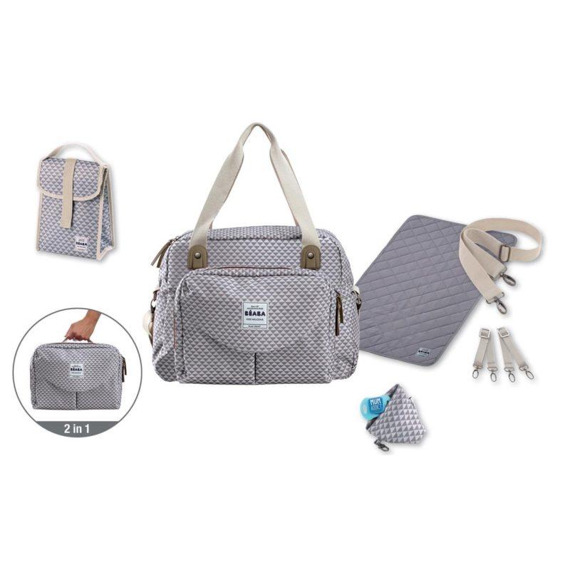 beaba Сумка для мамы Geneva Changing Bag II, Grey-1