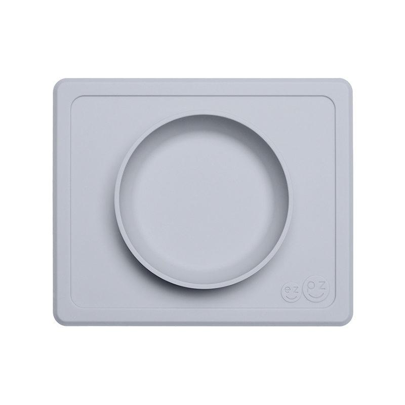 Ezpz Mini Bowl силиконовая тарелка-плейсмат :) светло-серый