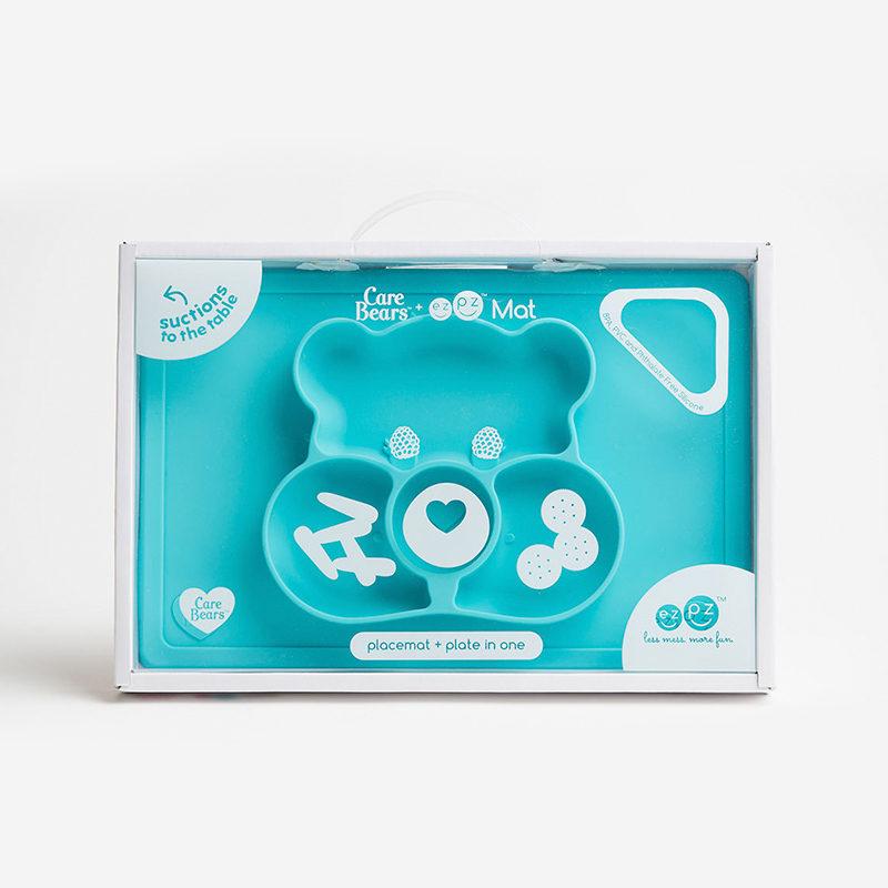 Ezpz Happy Mat Care Bear Edition Teal, бирюзовый