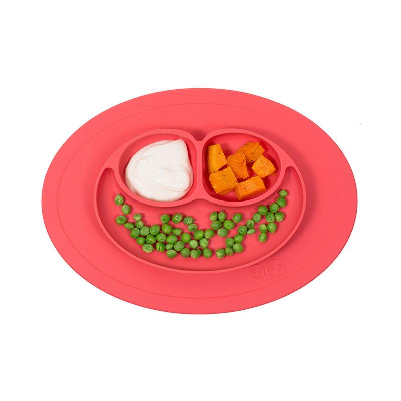 Ezpz Happy Bowl силиконовая тарелка-плейсмат коралловый