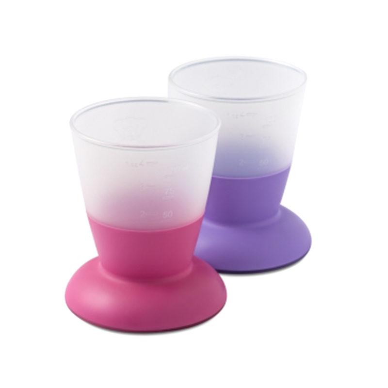 Babybjorn, комплект из стаканчиков, розовый/лиловый