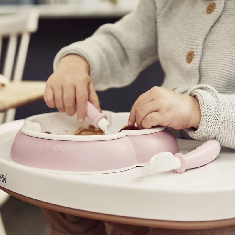 Babybjorn Комплект из 2-х ложек и 2-х вилок, нежно-розовый