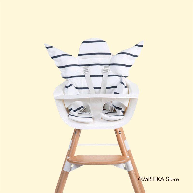 Childhome Стульчик для кормления EVOLU ONE.80°, Natural White 2 в 1 + мягкая подушка