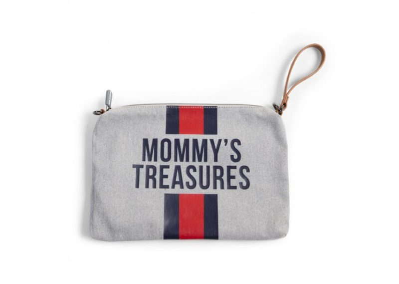 Childhome Сумка-Клатч для мамы CHILDHOME Grey Stripes