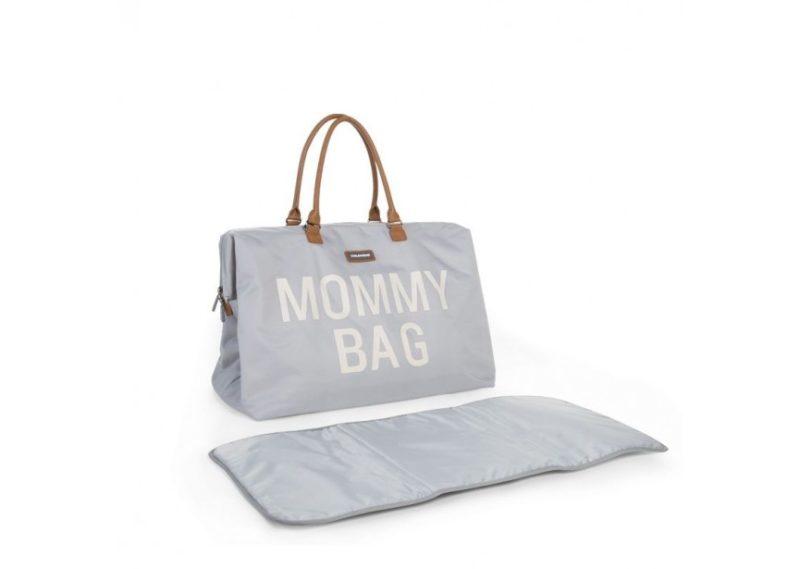 Childhome Сумка для мамы Big CHILDHOME Canvas Grey:White-1