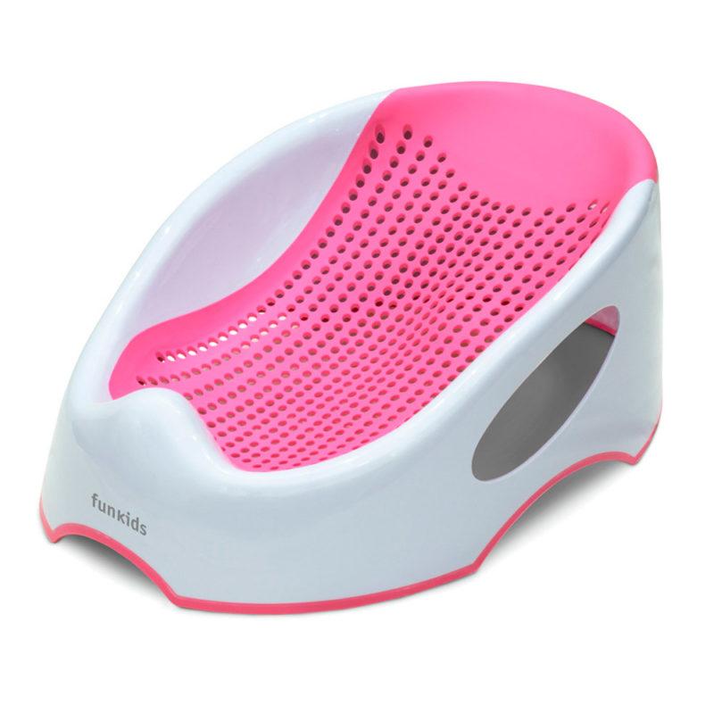 Funkids Горка-поддержка для купания Baby Bather Smart, Розовая