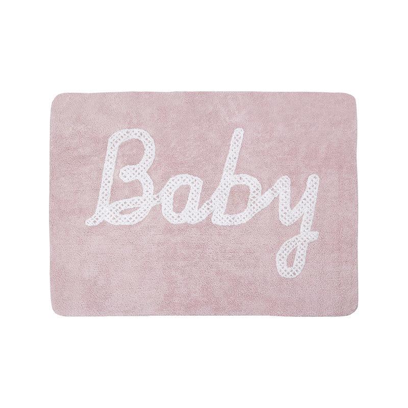 Lorena Canals Ковер с надписью Baby, розовый