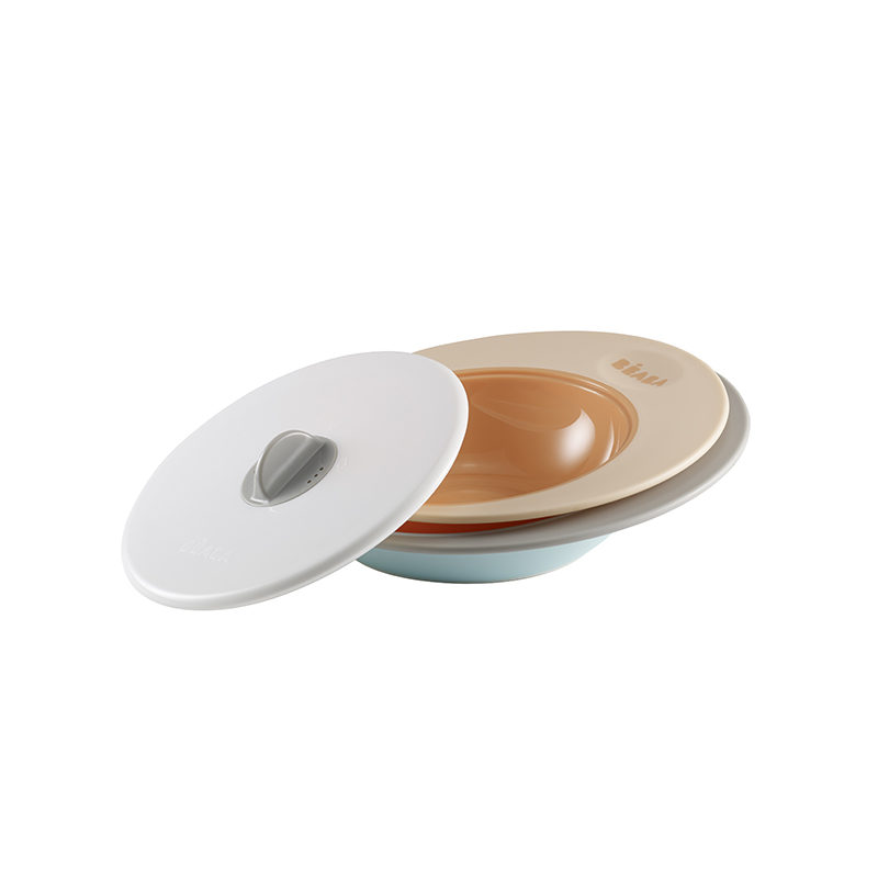 Набор тарелок для СВЧ Beaba Evolutive Ellipse Bowl