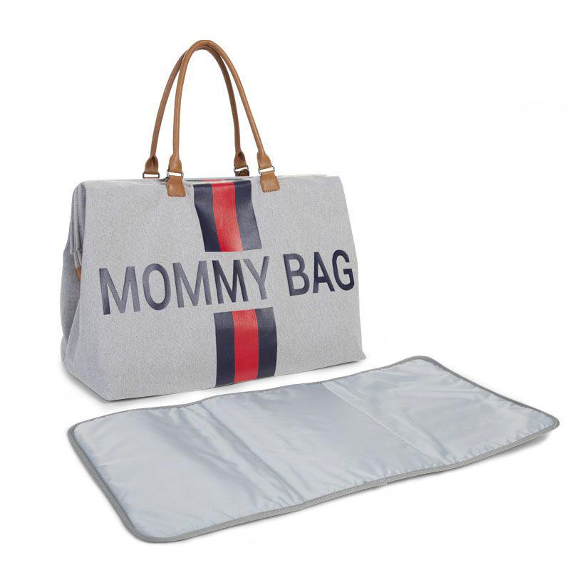 Сумка для мамы Big CHILDHOME Canvas Grey Stripes