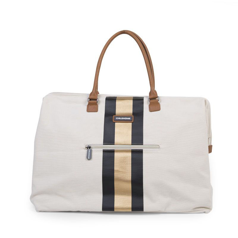 Сумка для мамы Big CHILDHOME Canvas off white Stripes