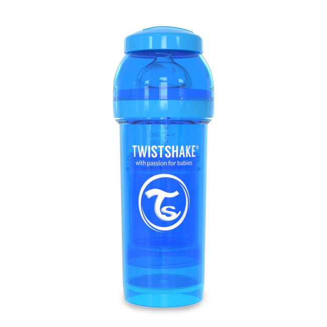 Twistshake Антиколиковая бутылочка 260 мл, Blue Cookiecrumb